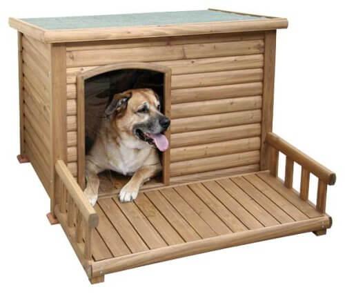 Kerbl Hundehuette mit Terrasse