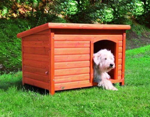 Trixie Natura Flachdach-Hundehuette